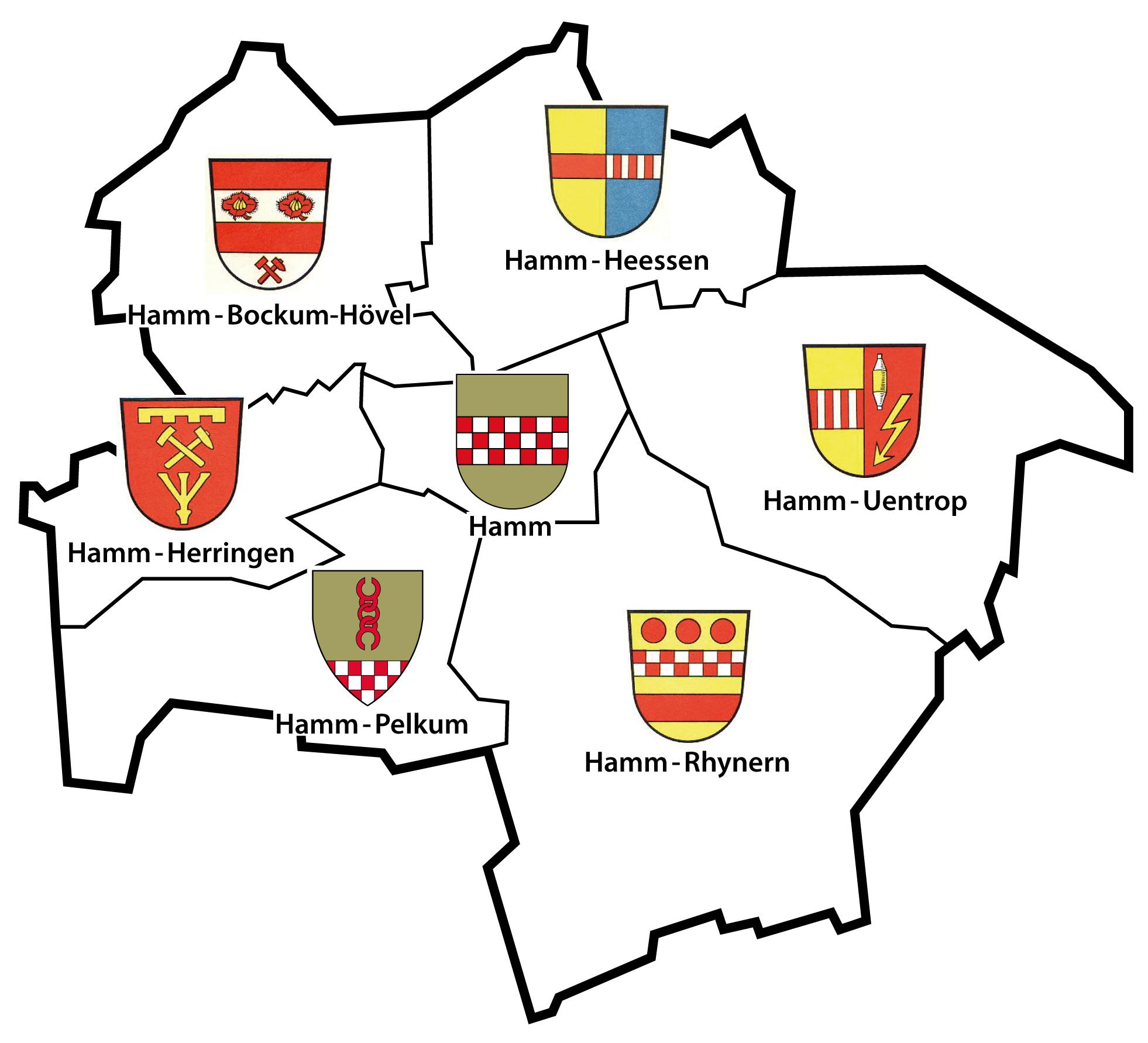 Hamm Karte.Vaizdas Wappenkarte Der Stadt Hamm Png Vikipedija
