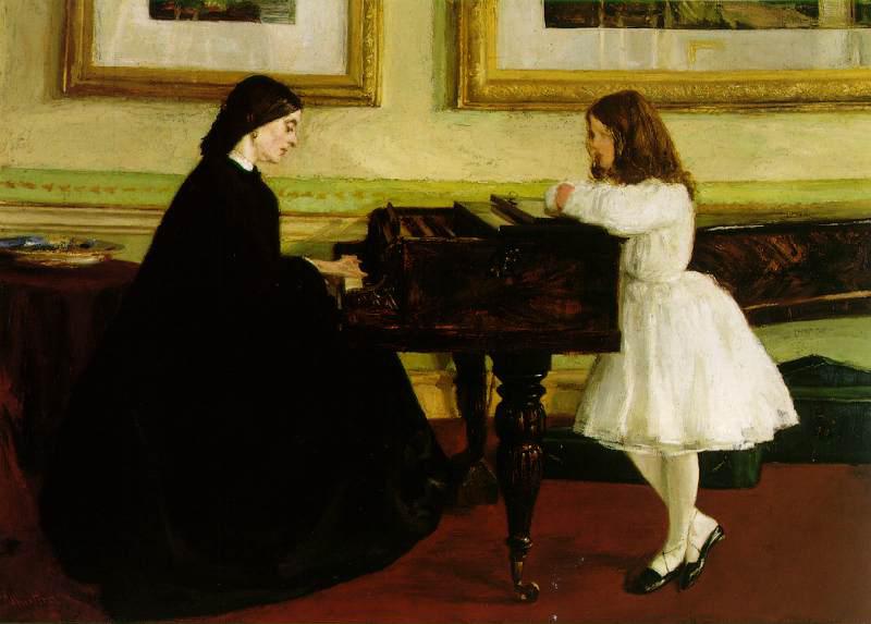 Pongan un cuadro en su vida - Página 20 Whistler_-_At_the_Piano