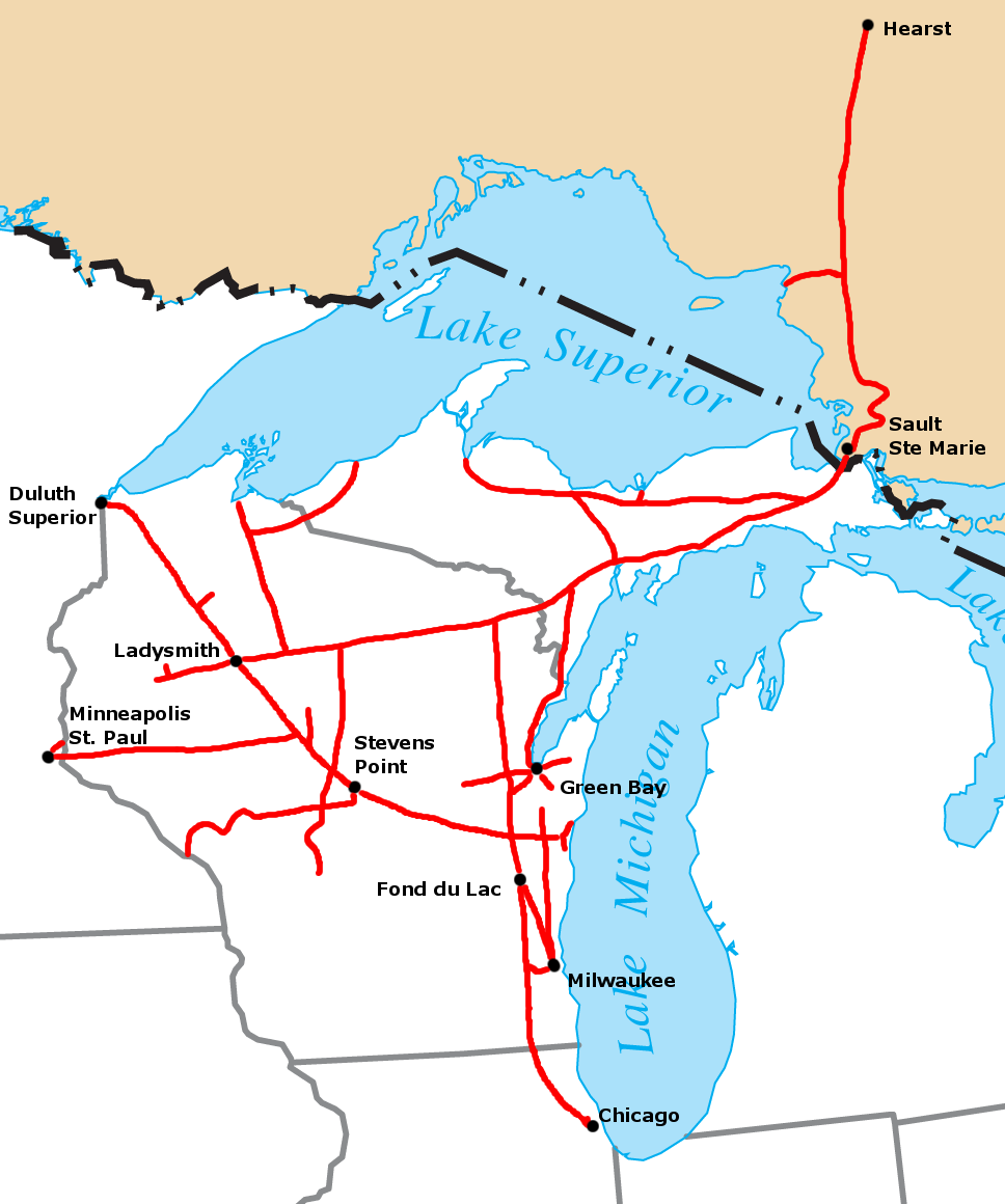 Wsconsin To Canada Map Wisconsin Central Ltd.   Wikipedia