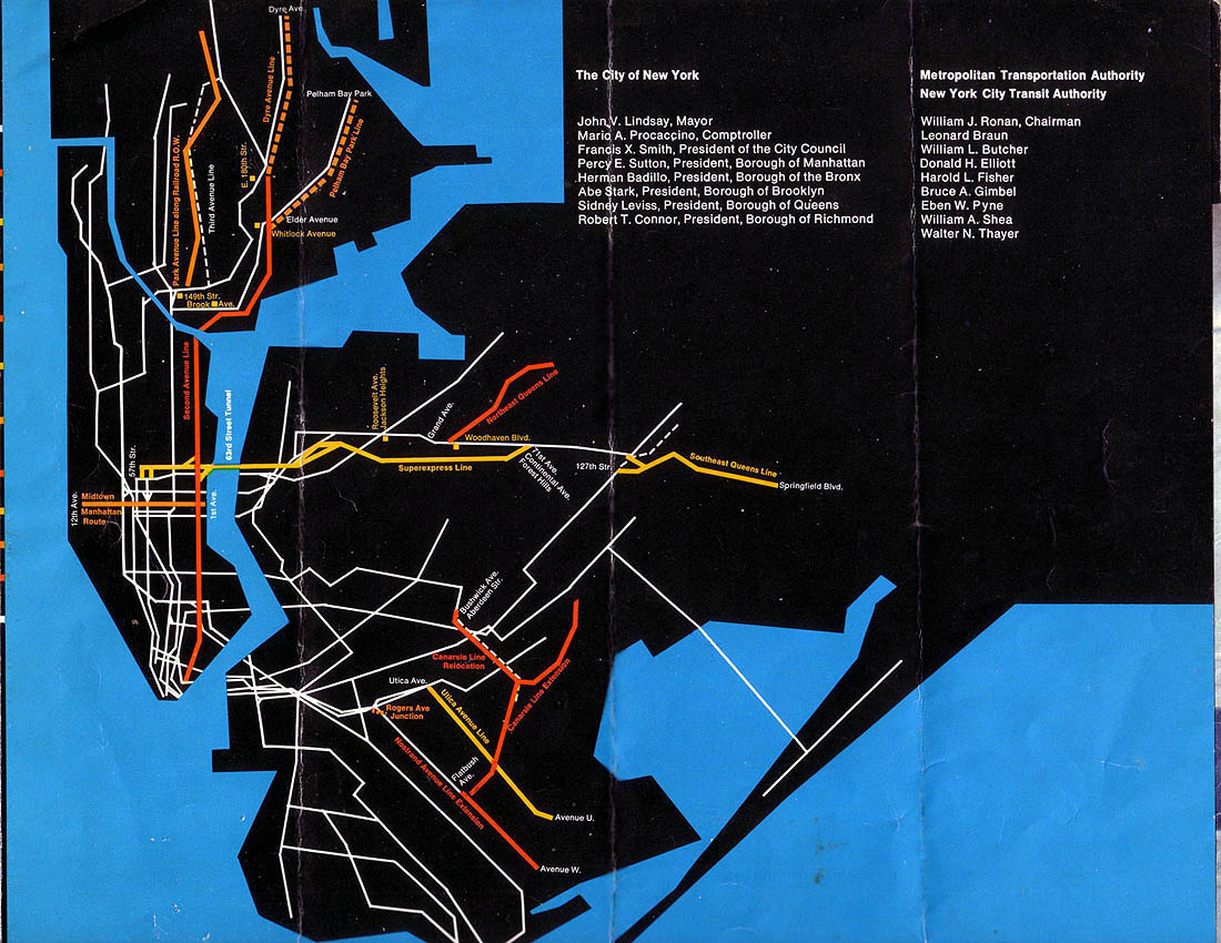 New York City Subway Map Brochure.Program For Action Wikipedia
