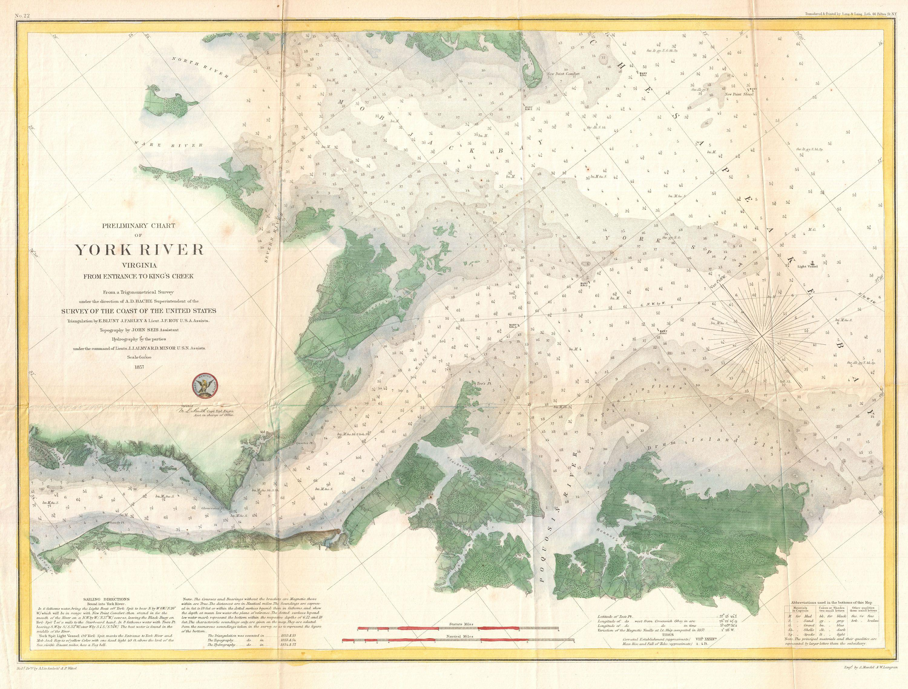 File US Coast Survey Map Or Chart Of The Entrance To The - Us survey maps