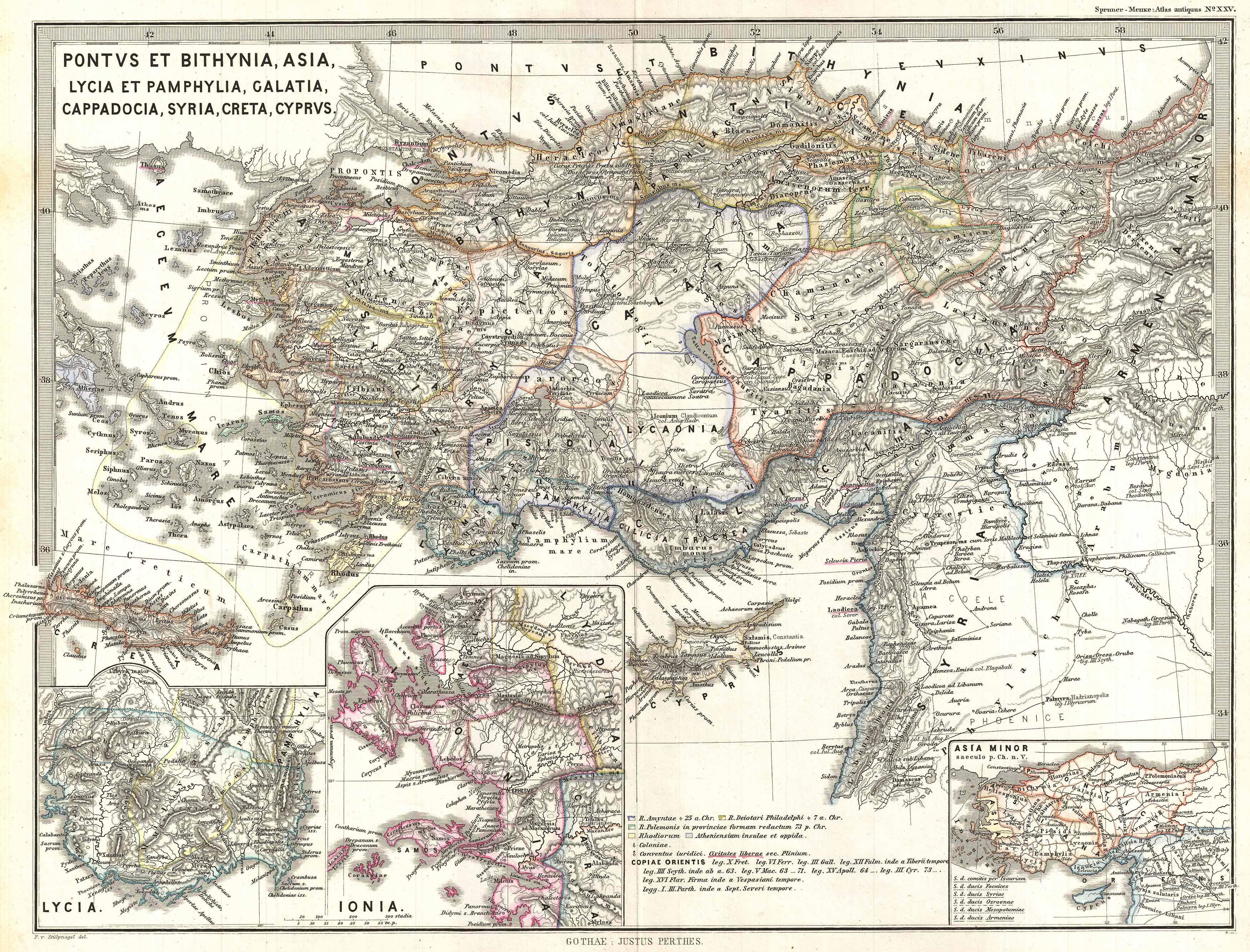Map Of Asia Minor.File 1865 Spruner Map Of Asia Minor Turkey In Antiquity