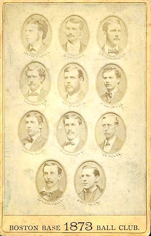 1873 Boston Red Stockings team picture; it finished first with a record of 43-16 1873Bostonteampicture.jpg