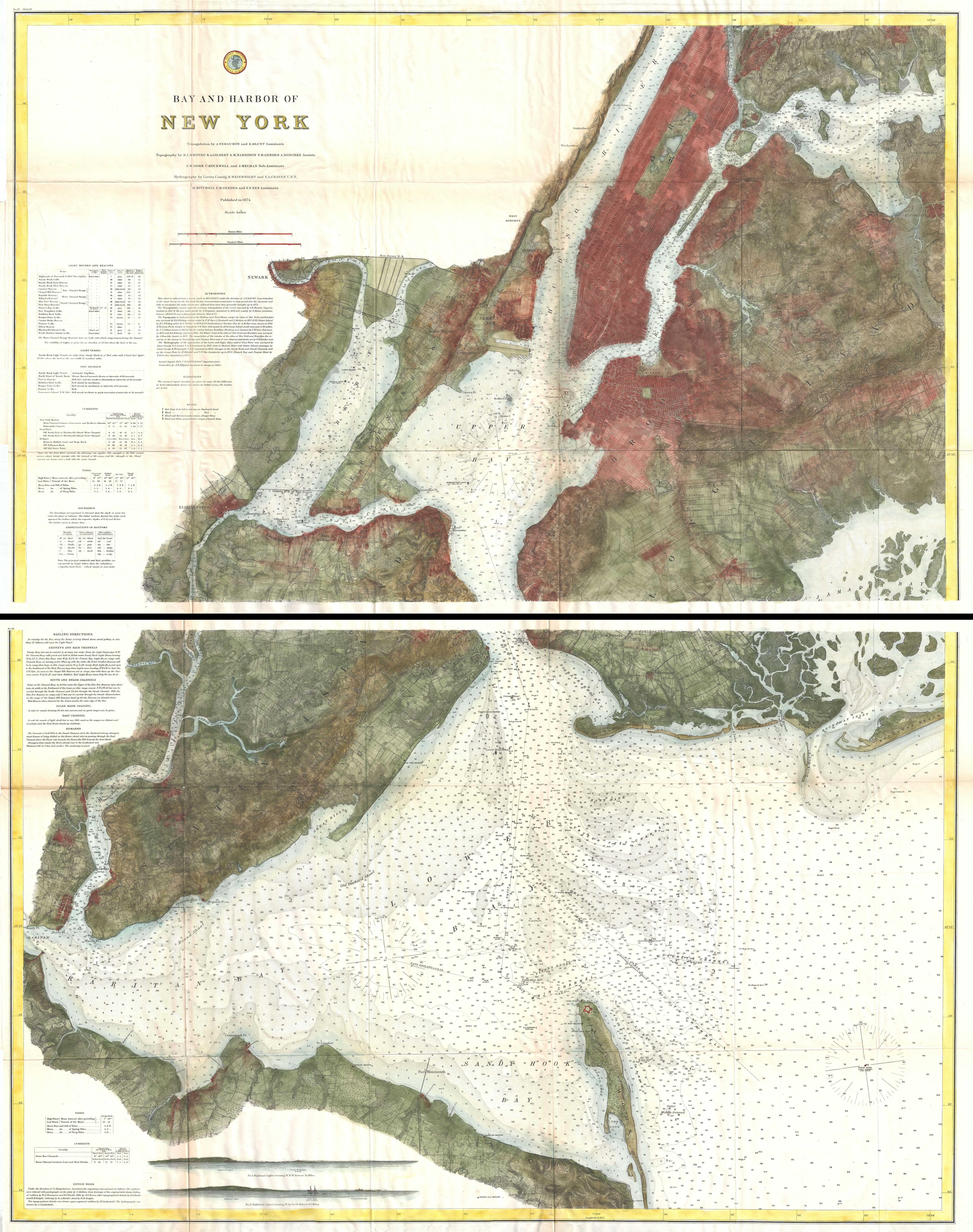 File US Coast Survey Map Of New York City Bay And Harbor - Map cities wikimedia us