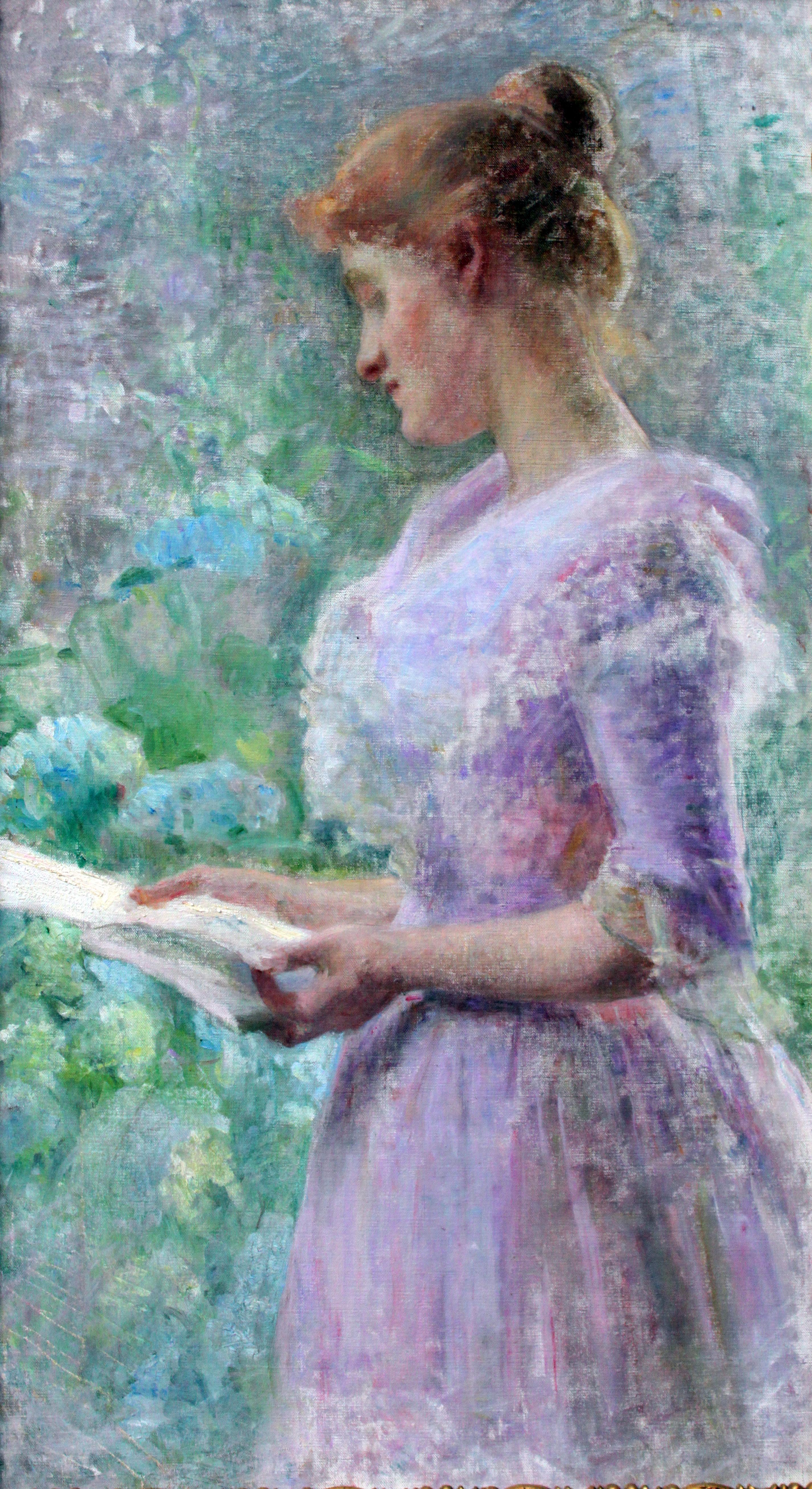 File1895 Bertuch Frau Im Garten Einen Brief Lesend Anagoriajpg