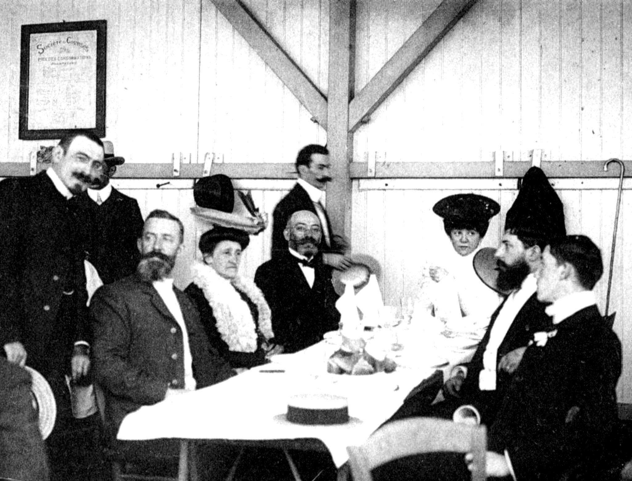 Ludwik Zamenhof mit Ehefrau und Ehepaar Michaux 1905, Boulogne-sur-mer