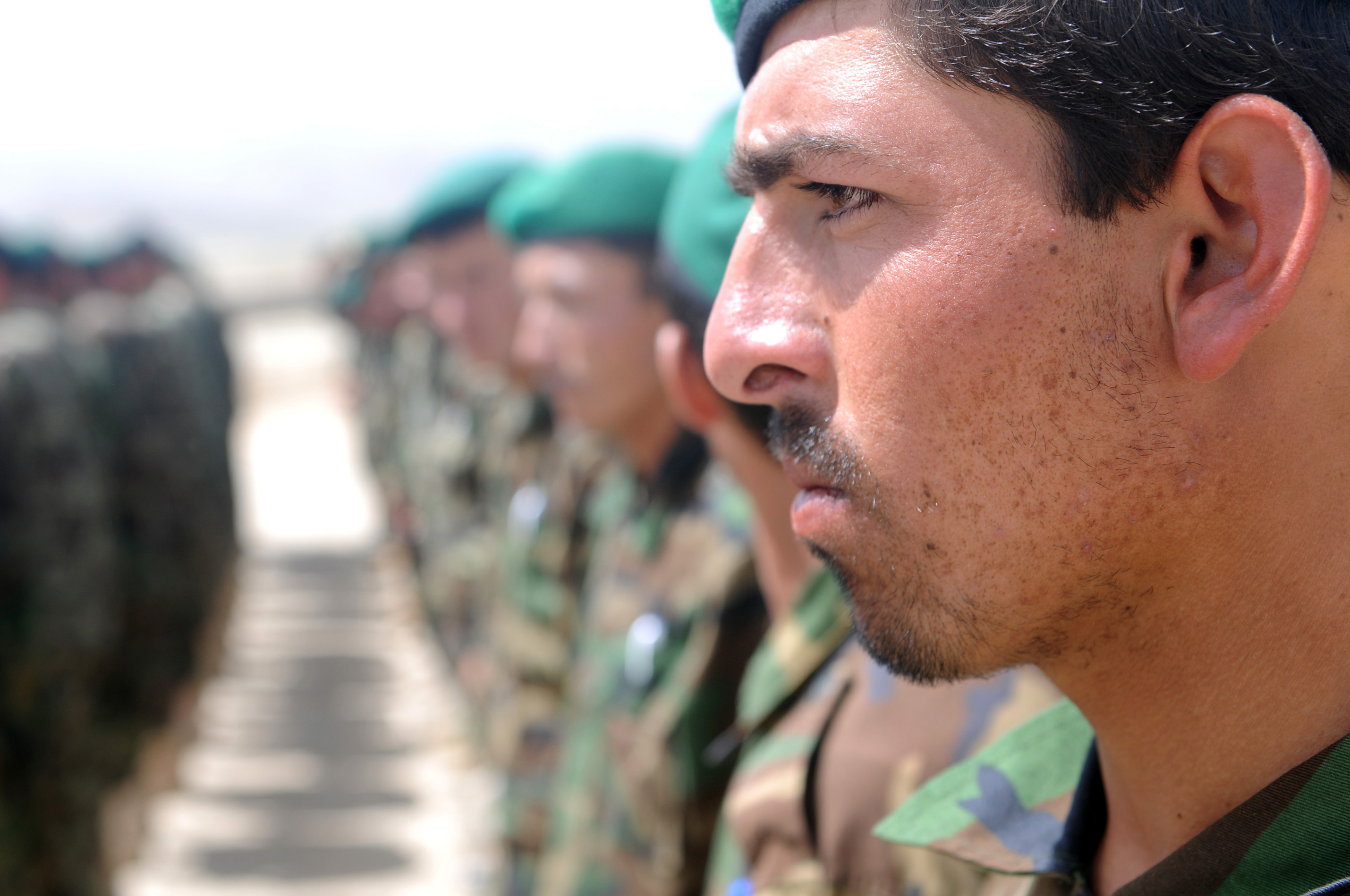 ANA's 203rd Corps Opens Renovated NCO Academy DVIDS284197.jpg English: Soldiers from the Afghan National Army's 203rd Thunder Corps await