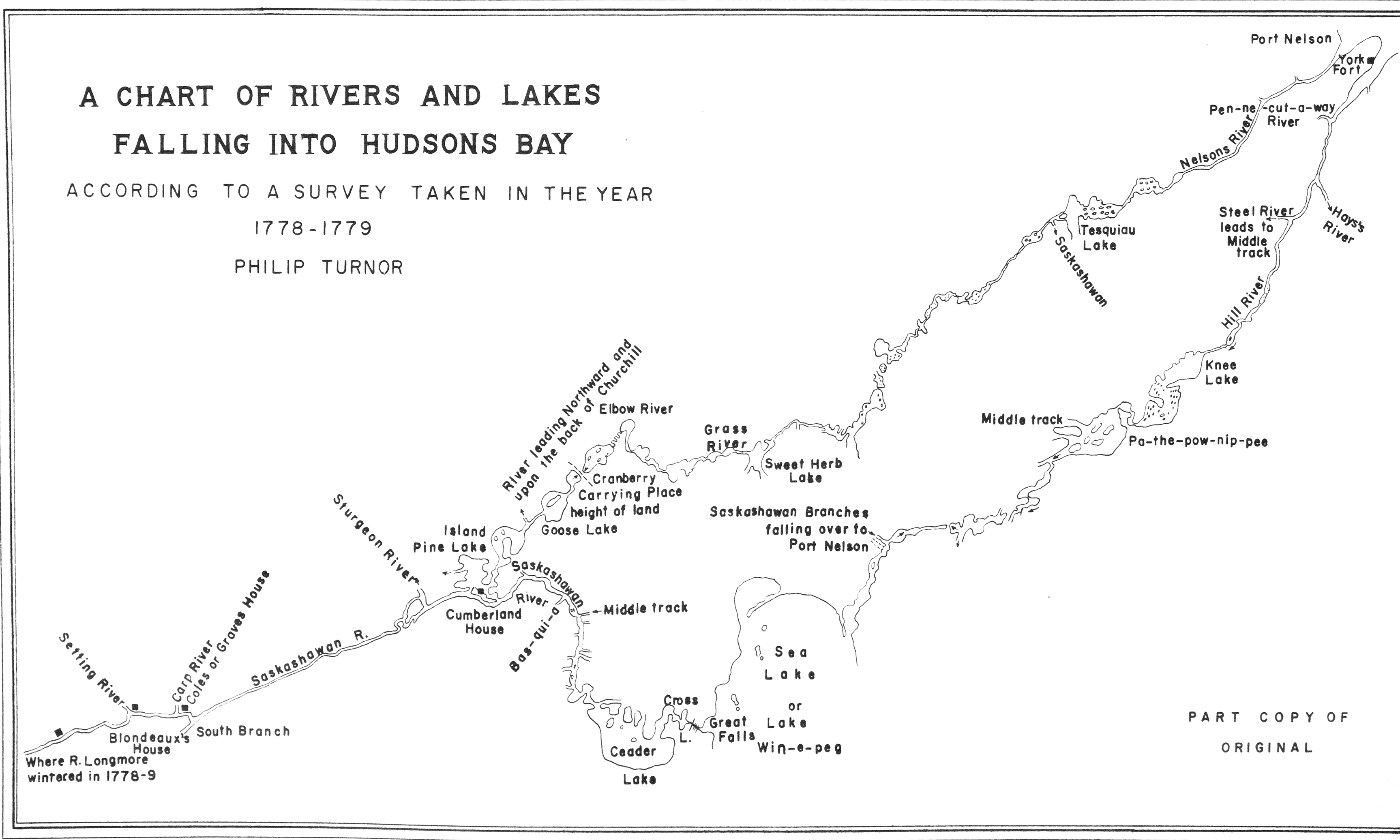 Paper Weight Chart: A Chart of Rivers and Lakes Falling into Hudsons Bay ,Chart
