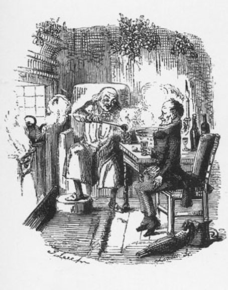 File:A Christmas Carol, Scrooge and Bob Cratchit after Scrooge's redemption, by John Leech.jpg