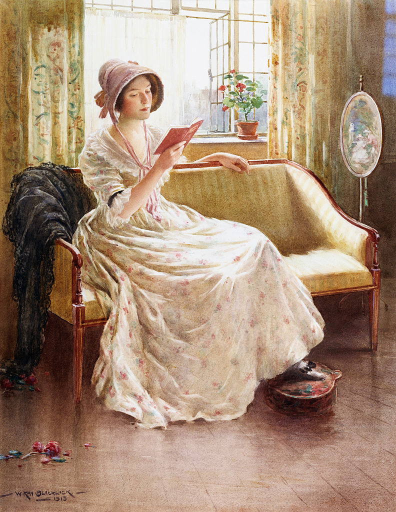 A Quiet Read by William Kay Blacklock
