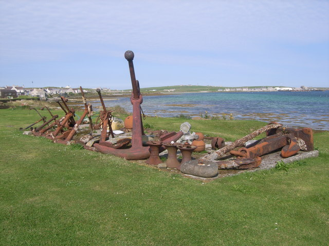 A bunch of rusty anchors - geograph.org.uk - 953445