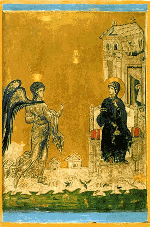Annunciation. Byzantyne icon fom St. Catheryne...