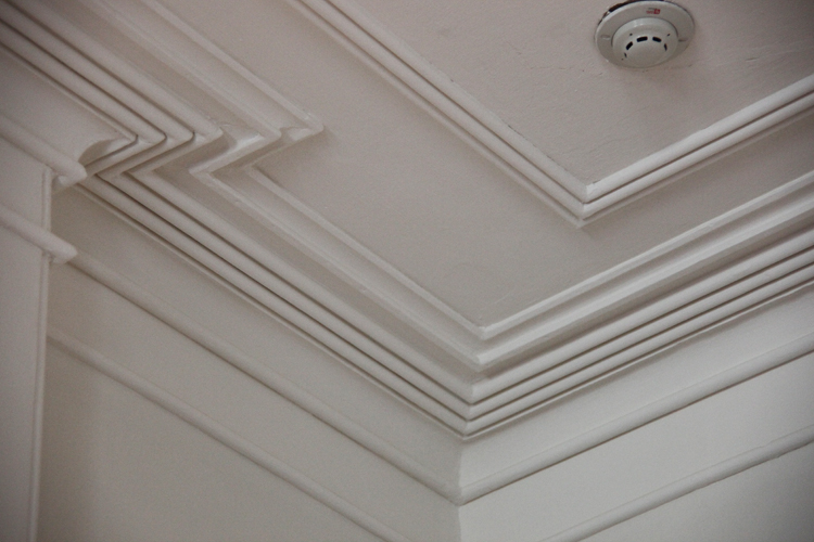 Tin Ceiling Restoration File:Arlington House - State Dining Room - ceiling molding ...
