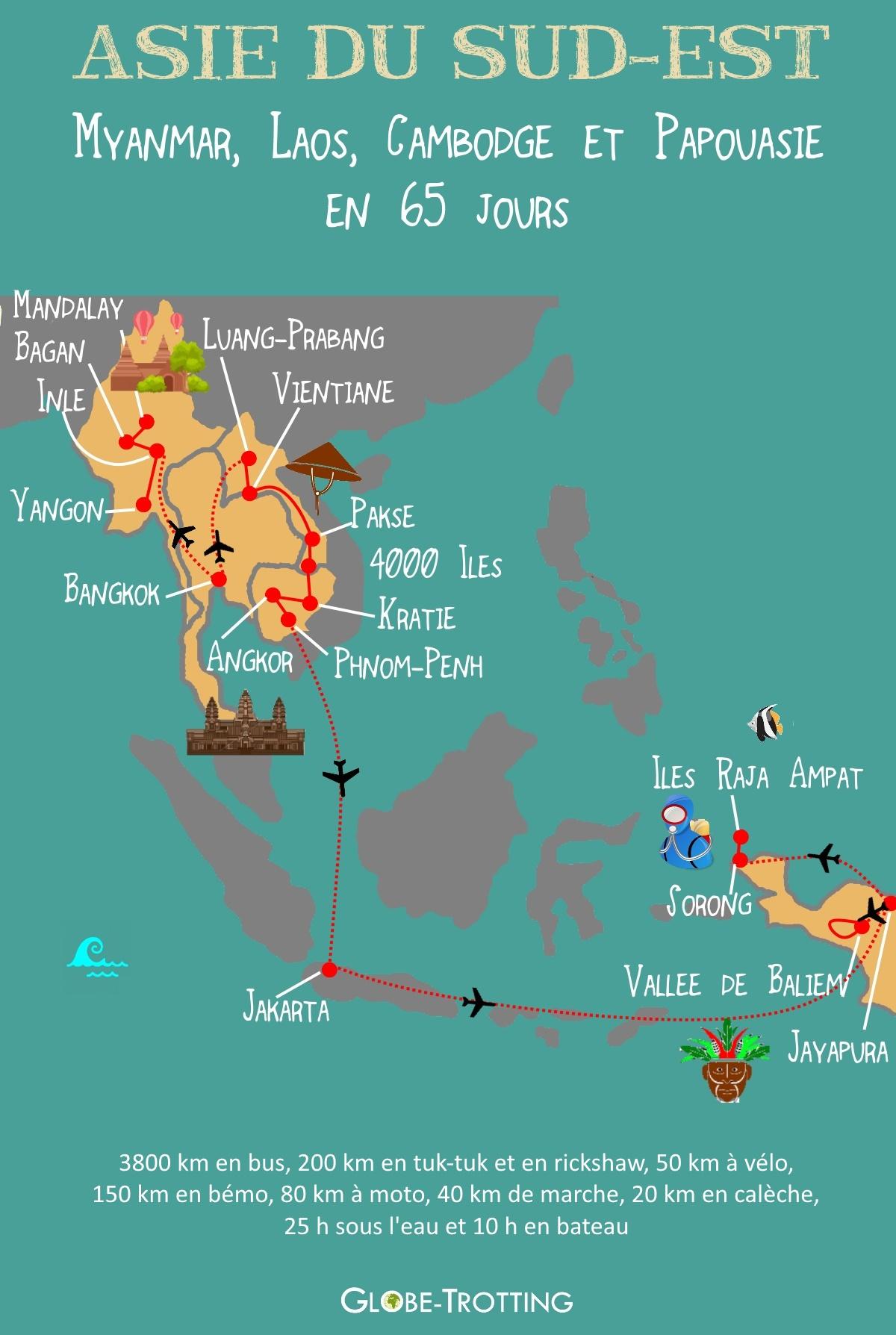 carte asie de l est File:Asie du Sud Est Carte touristique et itinéraire.
