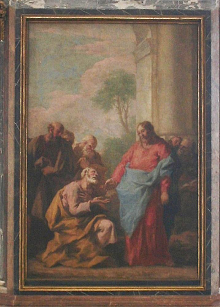 File:Bautzen Dom St. Petri Petrus empfängt die Schlüssel des Himmelreichs.jpg
