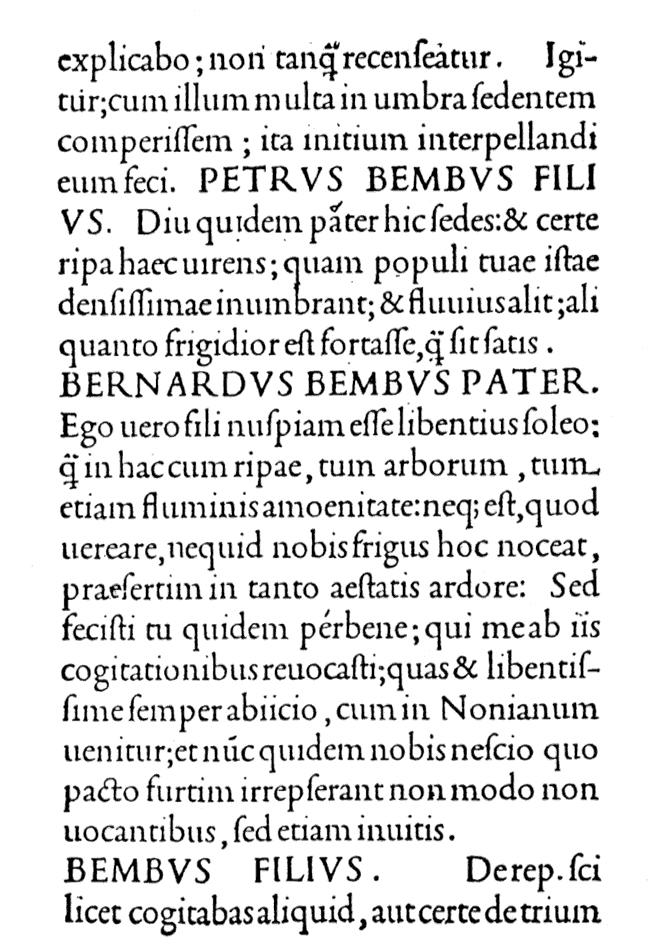 Beispiel einer Renaissance-Antiqua von Aldus Manutius.