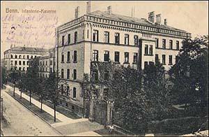 Historische Postkarte der Bonner Ermekeilkaserne, um 1900