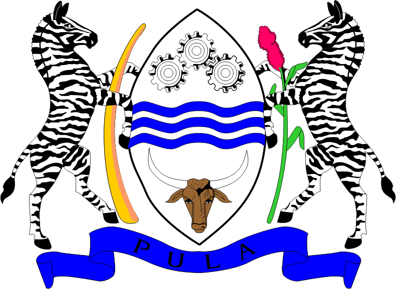 File Botswana coat of arms on 9