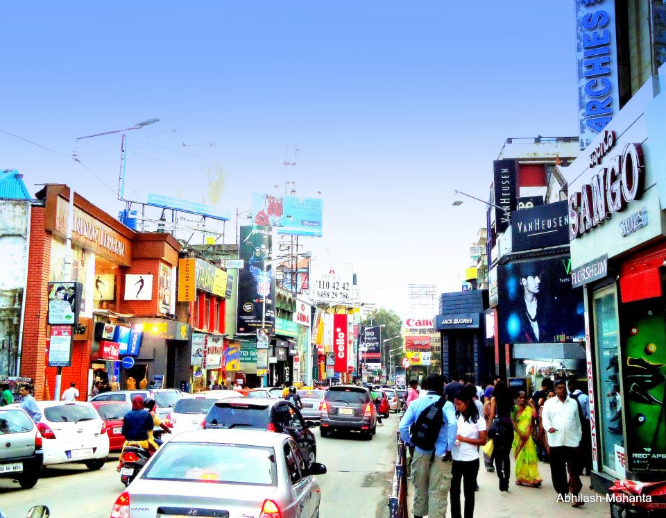 Image result for latest images of brigade road shopping place in bangalore