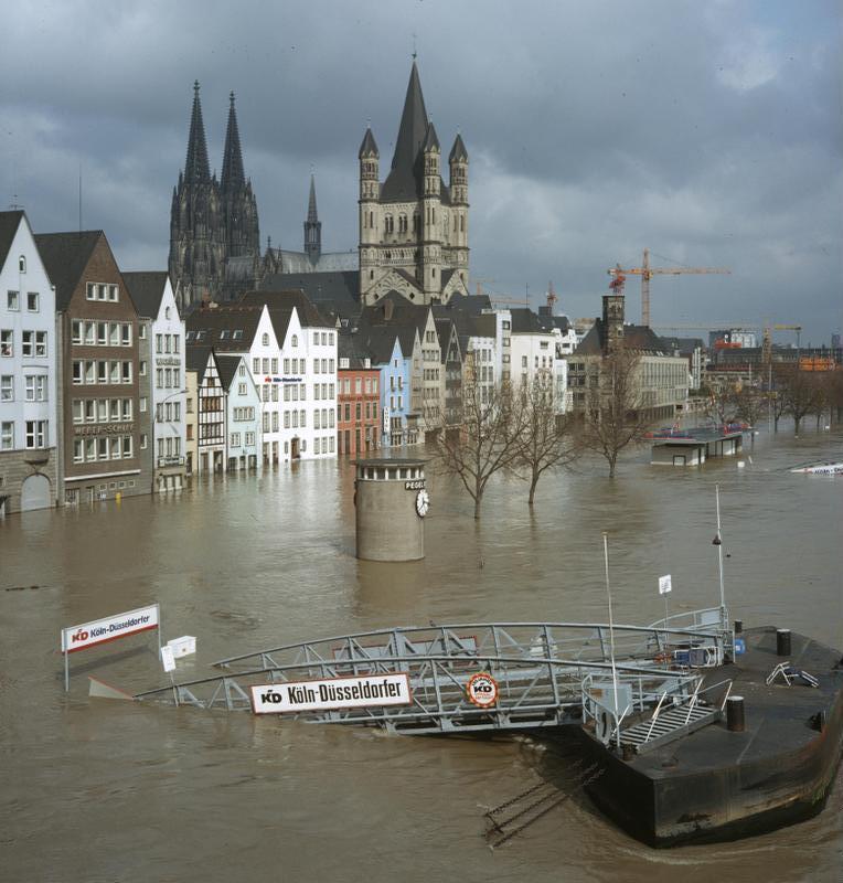 überschwemmung Köln