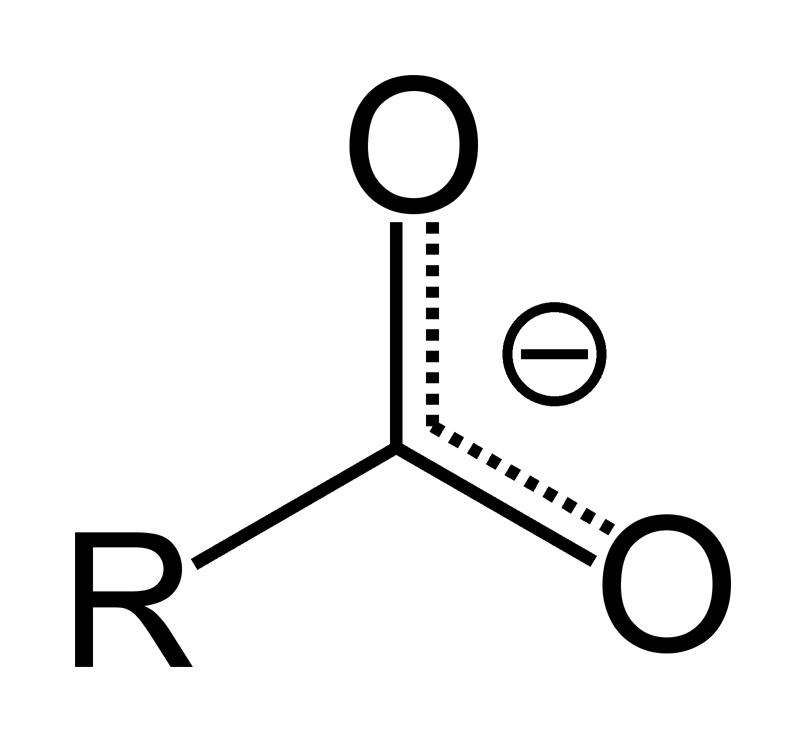 Chemical structure of Carboxylate Anion
