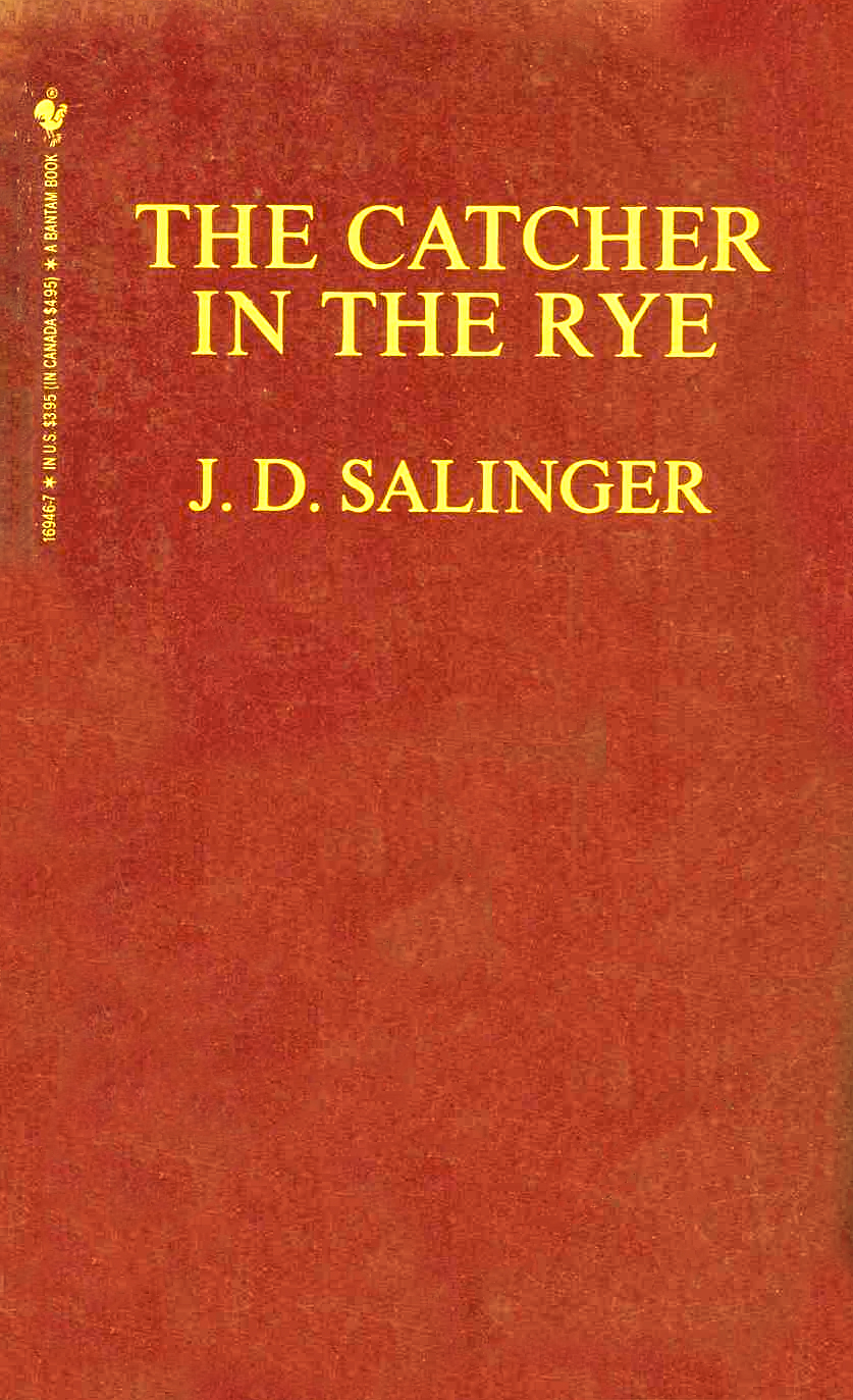 Cover of The Catcher in the Rye, red with yellow lettering