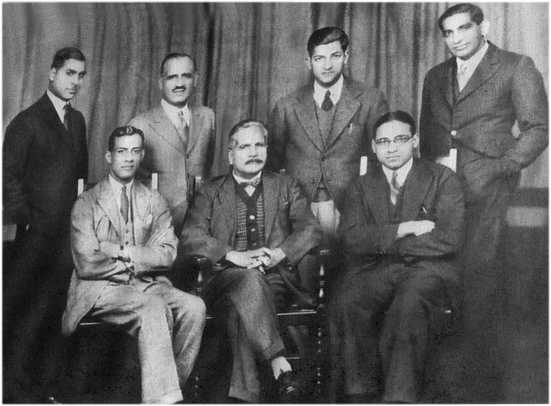 File:Choudhry Rehmat Ali (seated first from left) with Muhammad ...