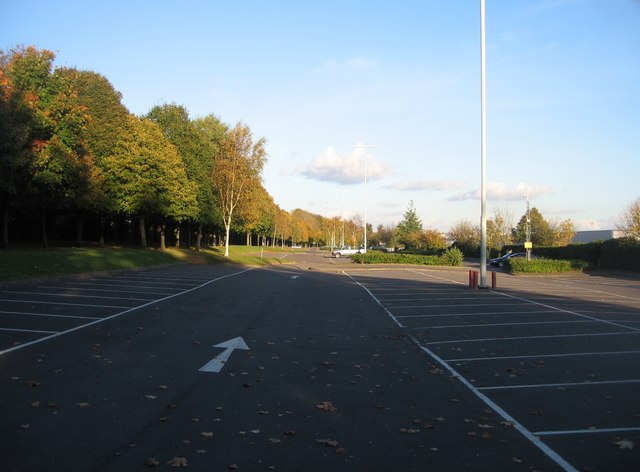 an empty car park