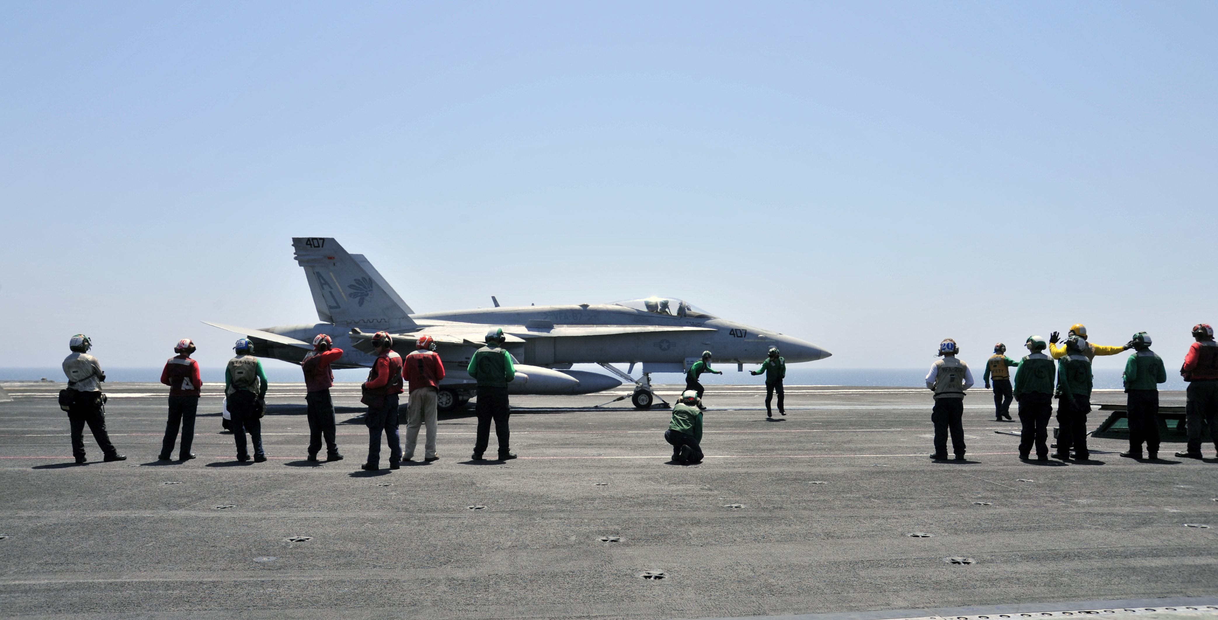 FA-18C Fighter Iraq Airstrikes August 7 2014.JPG
