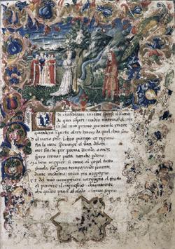 François Pétrarque (1304-1374) - Rime. Trionfi, Manuscrit du XVe siècle (Bibliothèque nationale, Rome)..jpg
