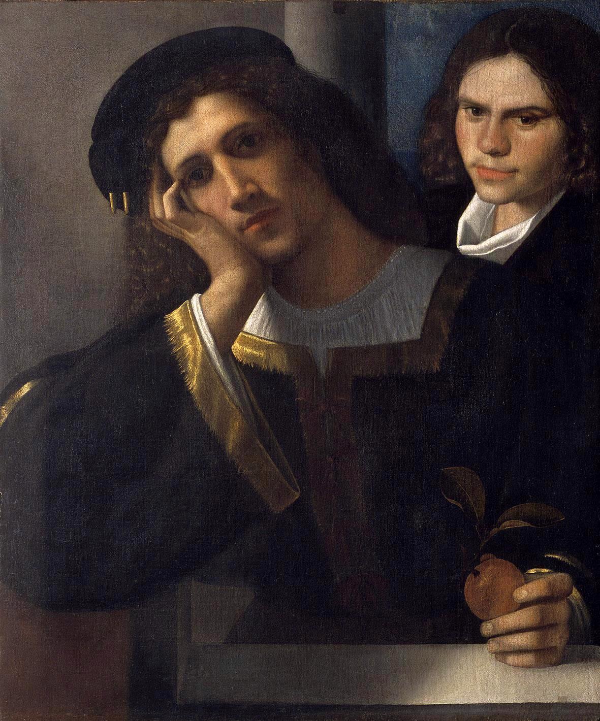 Giorgione  (1478–1510). Double portrait of unknown persons. 1502. Museo Nazionale di Castel Sant'Angelo, Roma