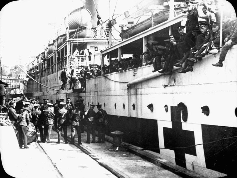 Hospital ship HMCS Laetitia in WW1
