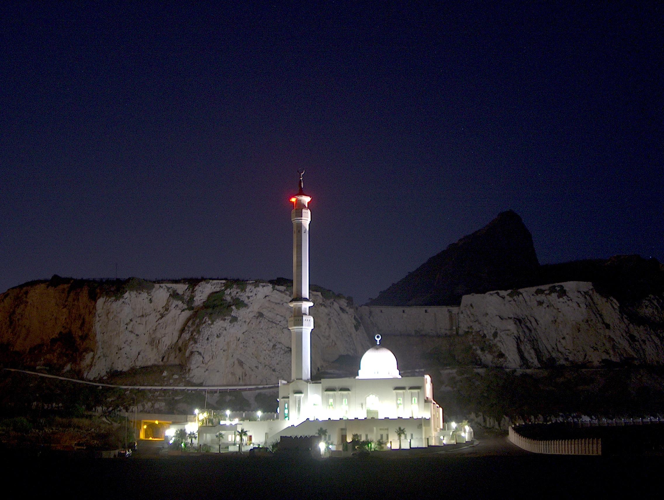 File Ibrahim Al Ibrahim Mosque At Night Jpg Wikipedia