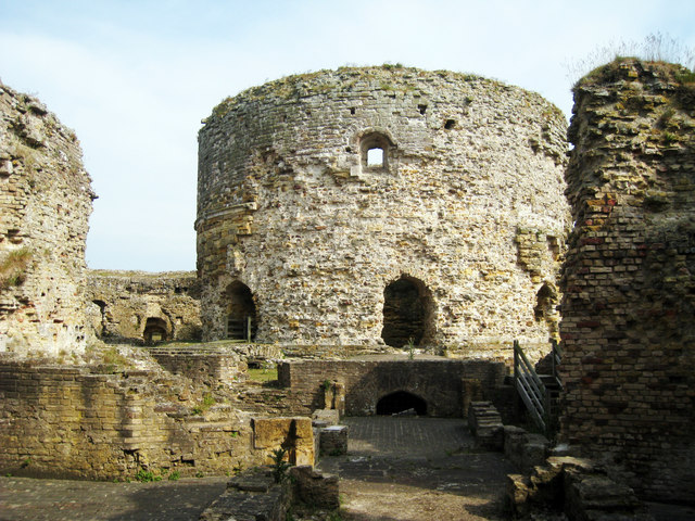 Inside Camber Castle - geograph.org.uk - 1342560