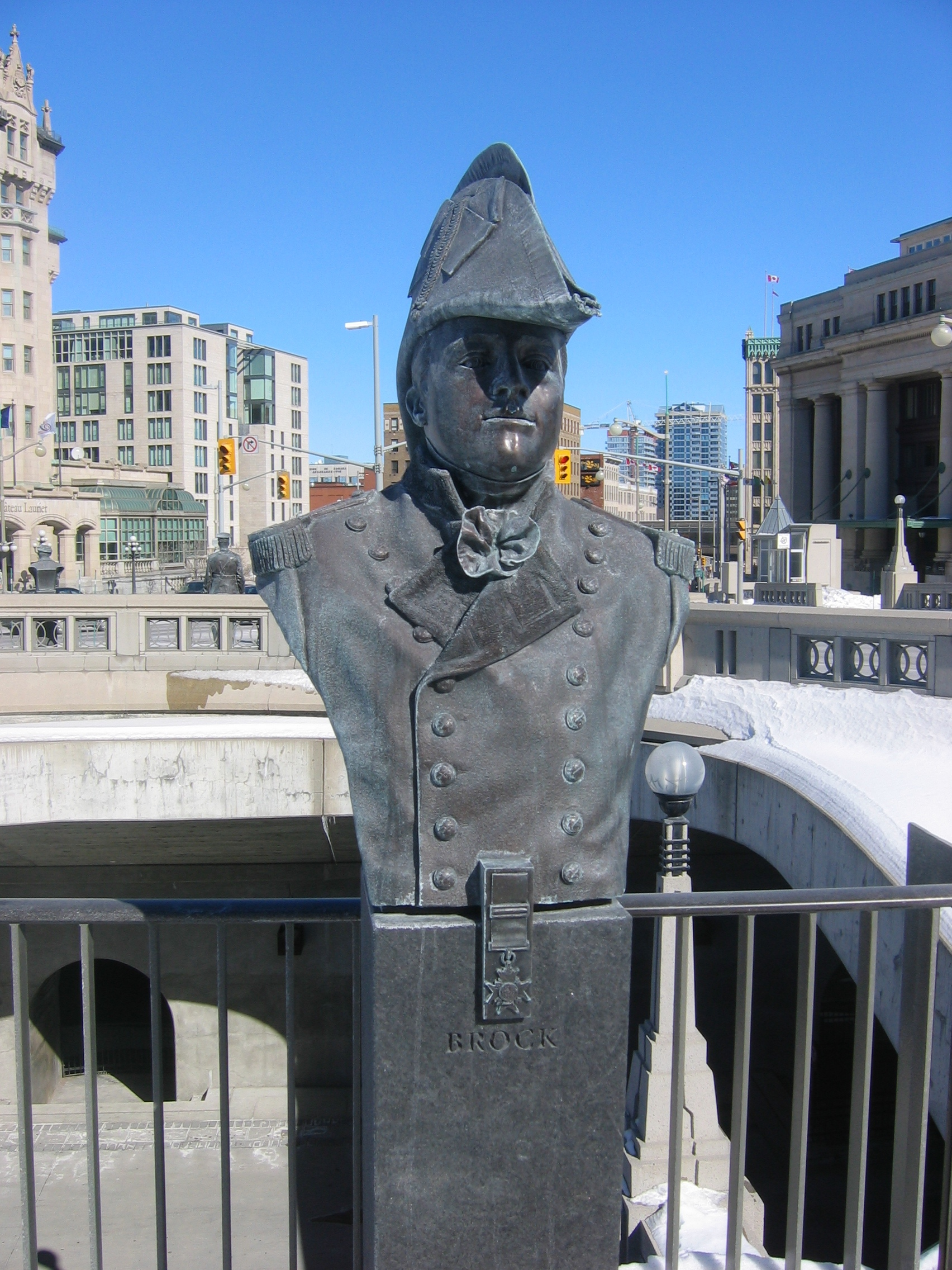 Bust of Sir Isaac Brock in at Valiants Memorial in Ottawa