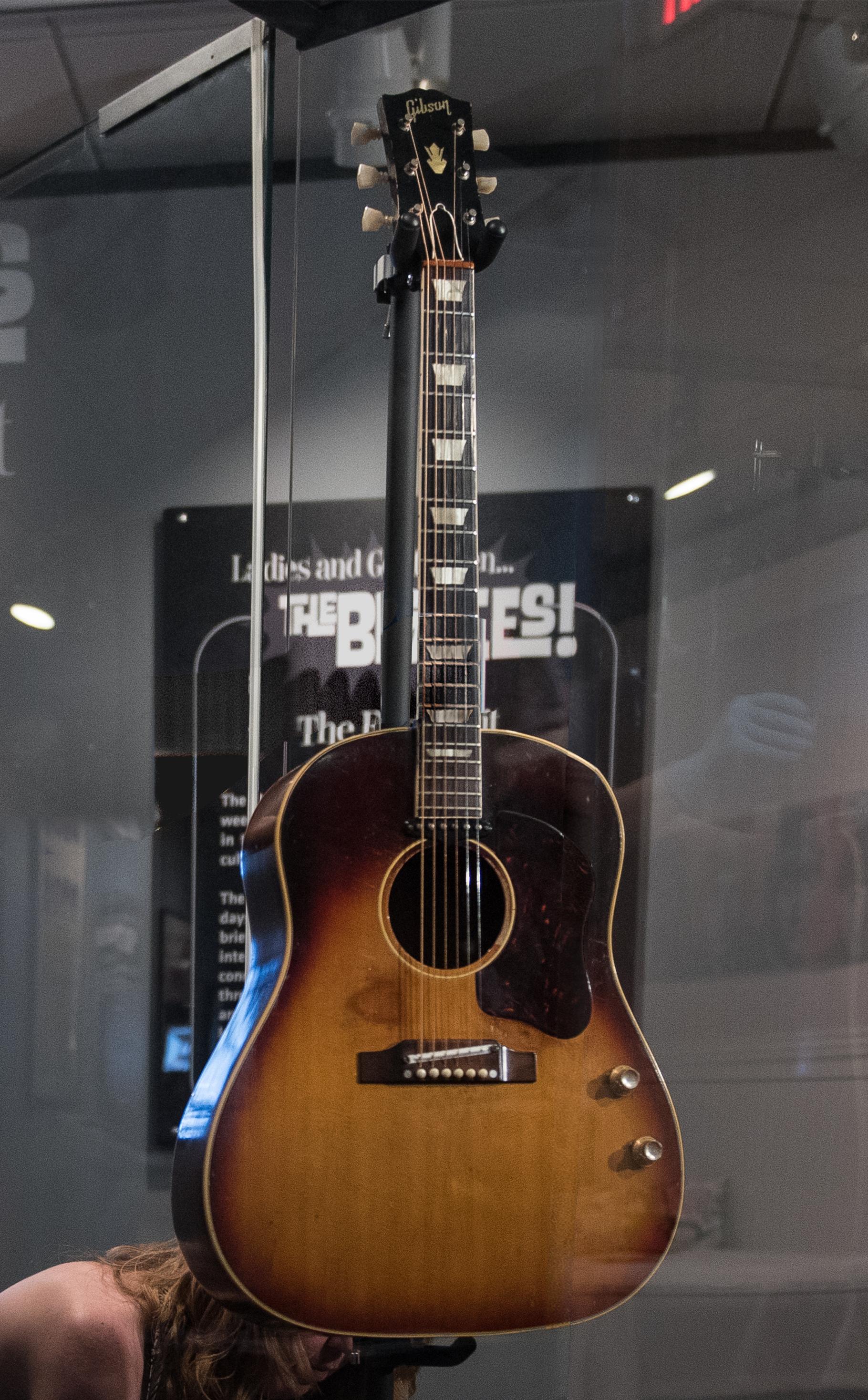 Beatles Guitars: File:John Lennon's Missing 1962 Gibson J-160E (clip
