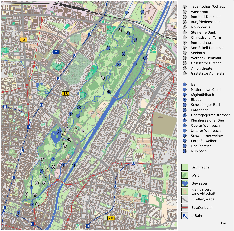 Englischer Garten München Wikipedia
