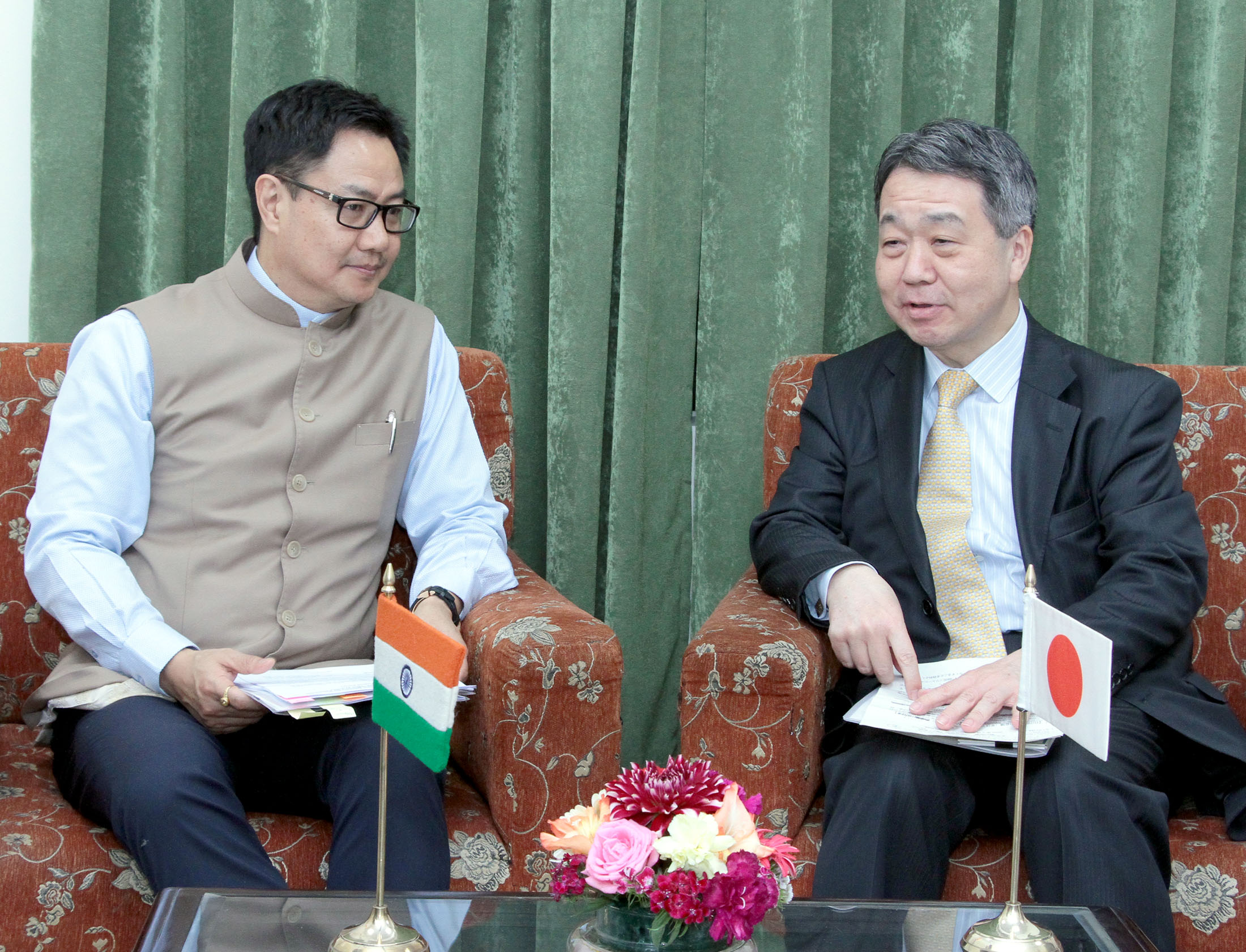 File Kiren Rijiju In A Meeting With The Vice Minister For Policy