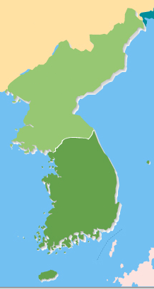 Korean Peninsula, showing North and South Kore...