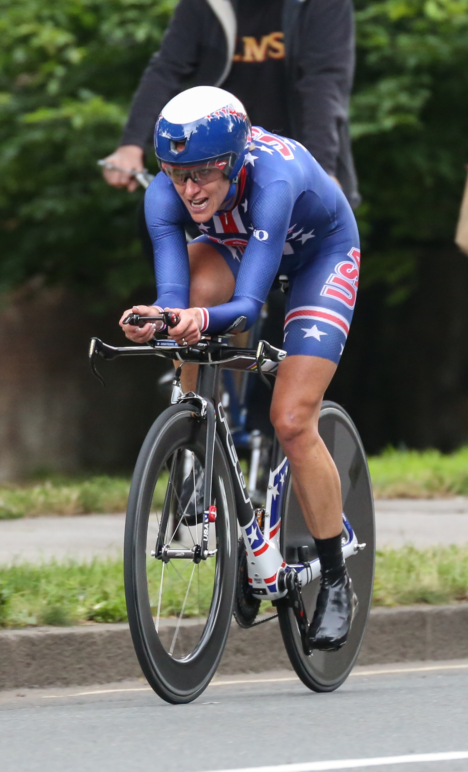 The 45-year old daughter of father (?) and mother(?) Kristin Armstrong in 2018 photo. Kristin Armstrong earned a  million dollar salary - leaving the net worth at 2 million in 2018