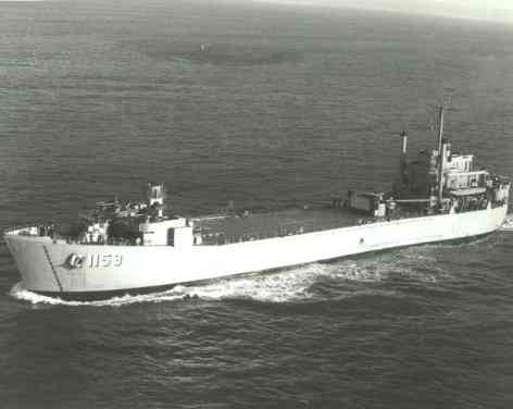 LST-1159 at sea, circa September 1953