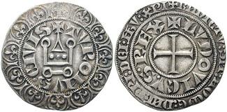 Dazu identische Münze des römisch-deutschen Königs Ludwig IV. des Bayern