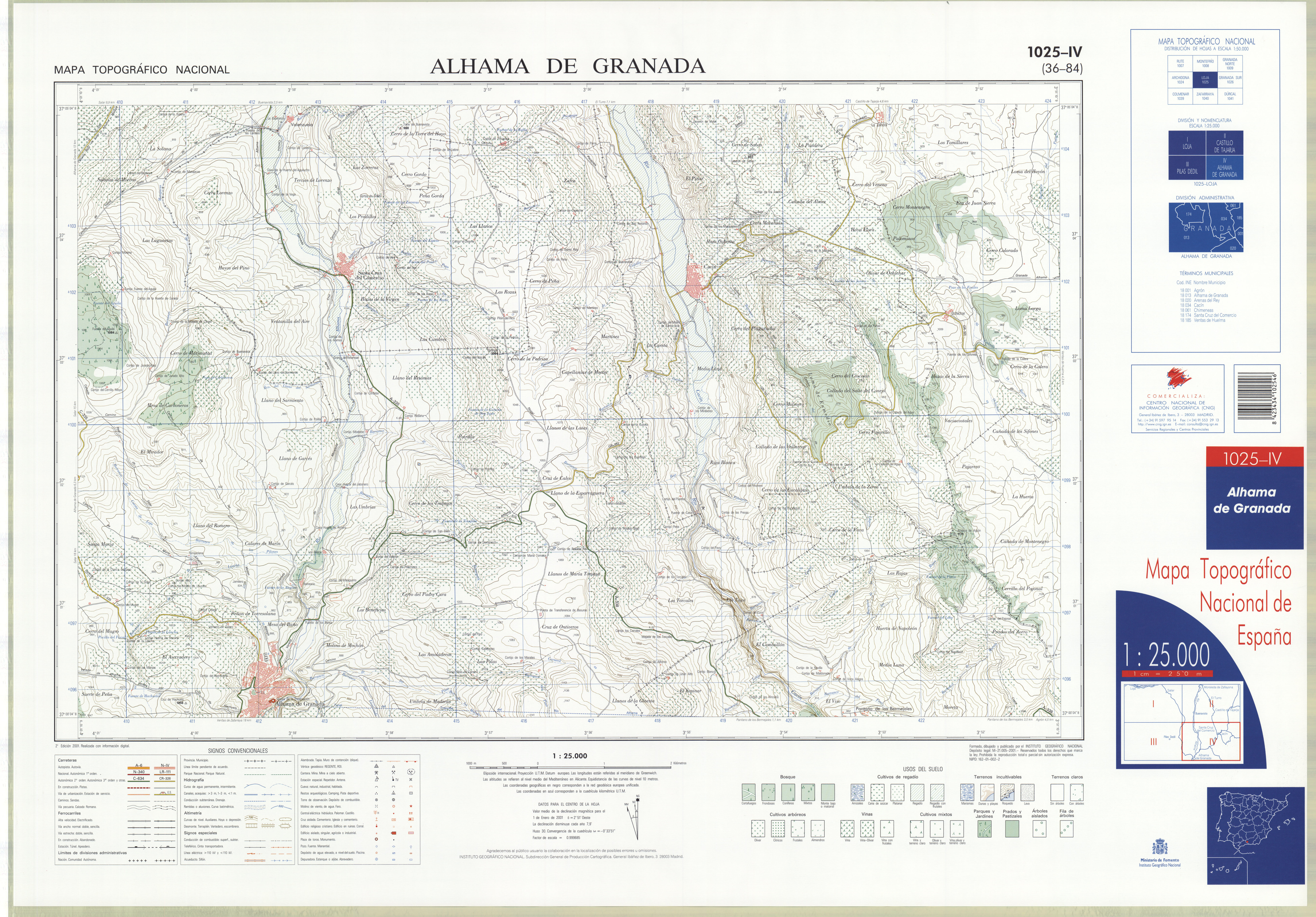 Mapa Alhama De Granada.File Mtn25 1025c4 2001 Alhama De Granada Jpg Wikimedia Commons