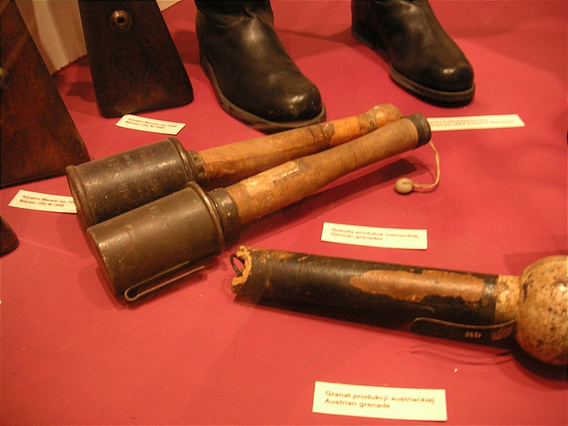Stielhandgranaten. The Germans were probably the ones who first developed the stun grenade.