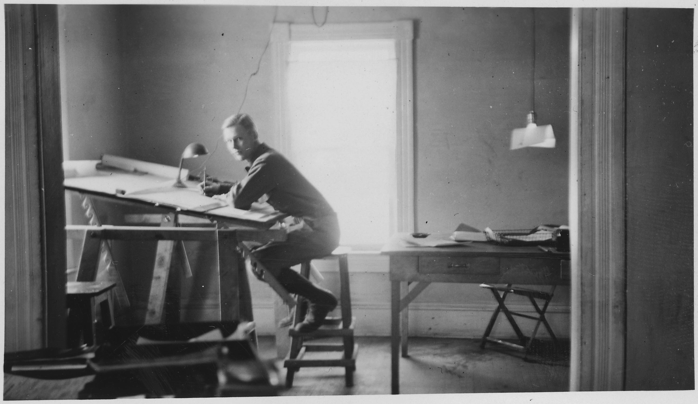 Fileman Sitting At Drafting Board Nara  Jpg Wikimedia Commons