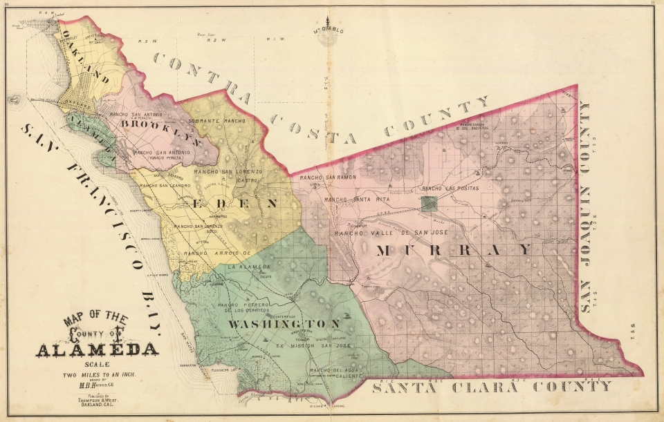 Map of Alameda County, 1878 (Six Townships)