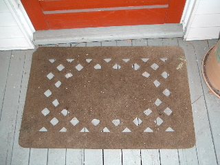 A welcome mat from Lexington, Massachusetts.
