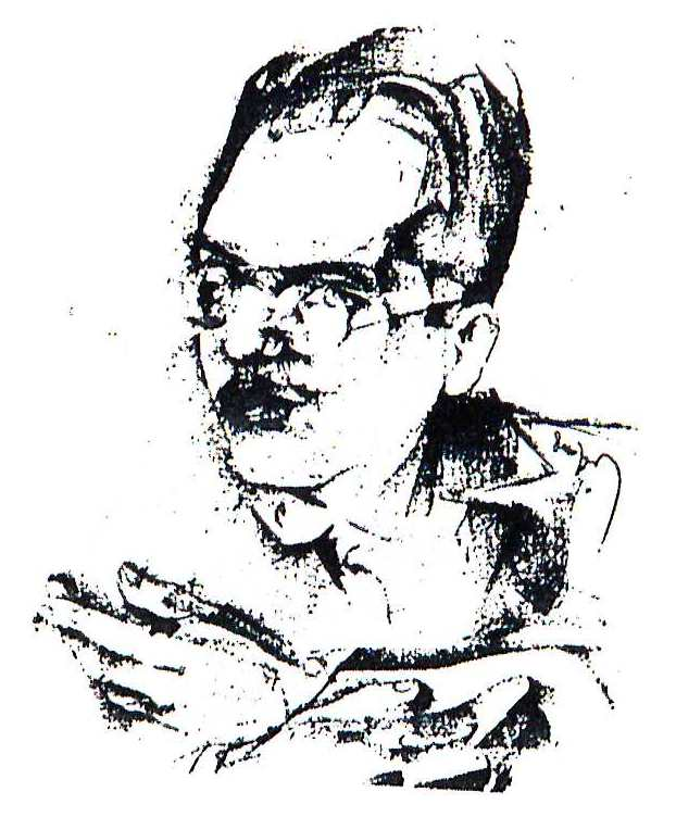 Drawing of Kurt Weill, undated, before 1933, by Max Dungert.  (Public domain.)