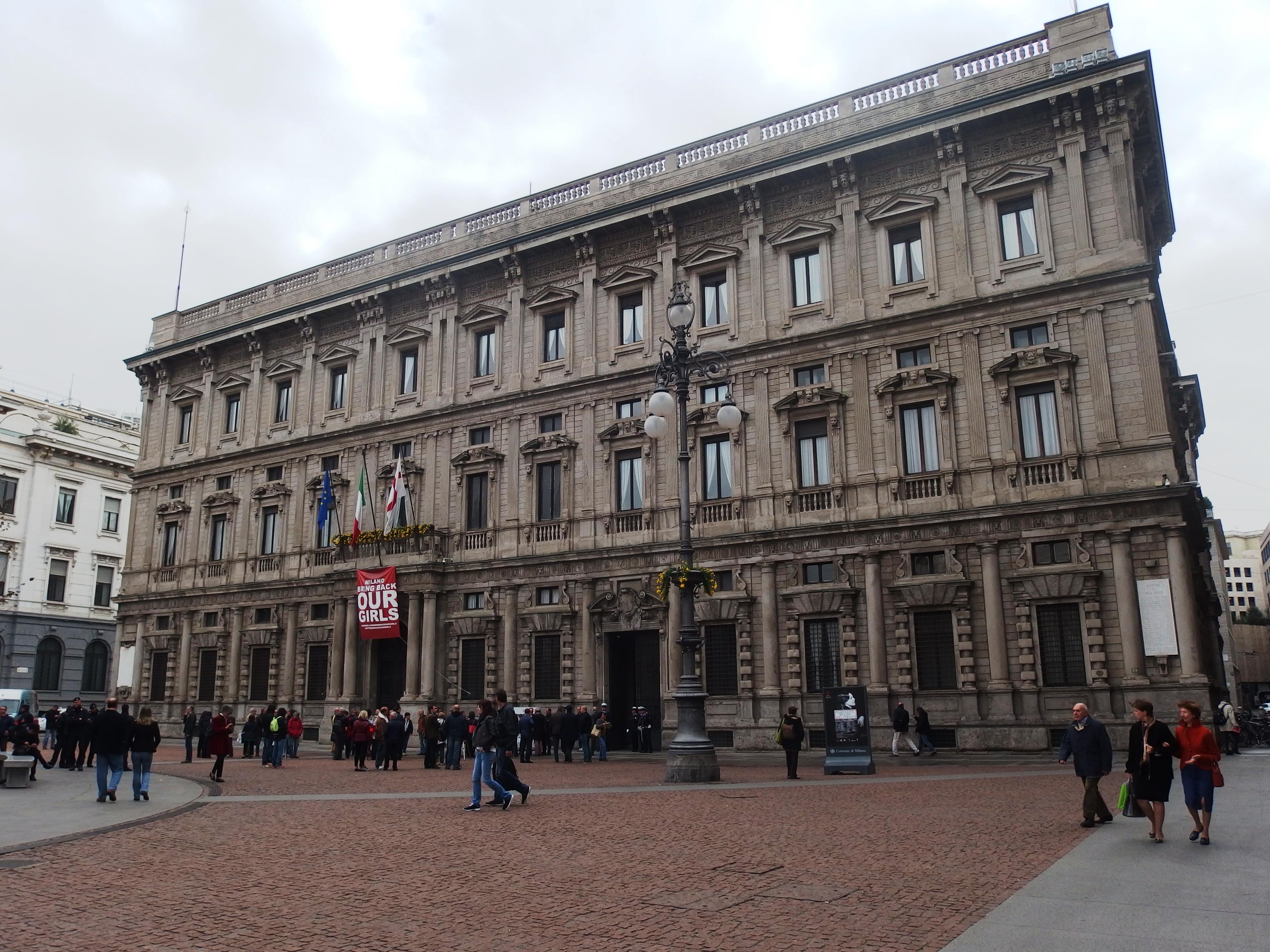 Veduta di Palazzo Marino sede della giunta meneghina