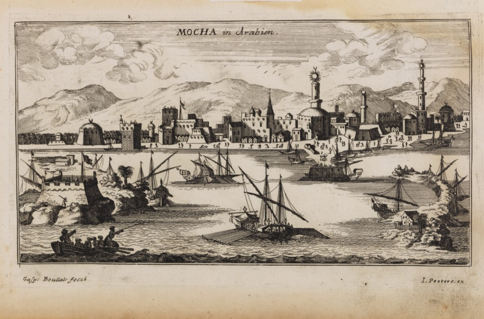 Mocha was Yemen's busiest port in the 17th and 18th centuries Mocha1692.jpg